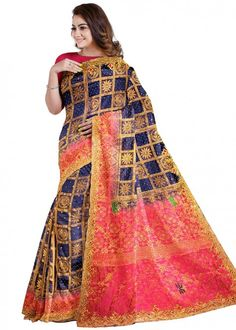 #blue #woven #bridal #kanjivaram #silk #saree #blouse #attractive #design #sareelove #new #arrivals #beautiful #indianwear #ootd #traditional #womenswear #online #shopping