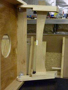 Under Carriage View - Legs Cornhole Set, Cornhole Boards, Kreg Deck Jig, Tailgate Games, Pocket Screws, Adjustable Legs, Baltic Birch Plywood, Dust Collection, Steel Frame