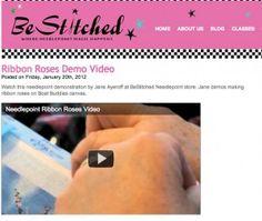 Silk ribbon rose tutorial!