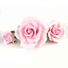 Pink Garden Rose Sugarflower cake decorations    CaljavaOnline.com