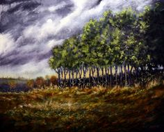 Tonal Impressionism Landscapes by Stuart Davies - Stuart Davies Art - French Meadow