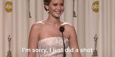 Quand elle s'est présentée devant la presse bourrée, après avoir gagné son Oscar.