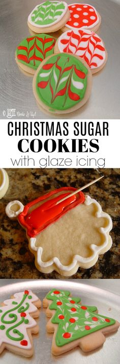 Christmas Sugar Cookies with Glaze Icing from Jamie Cooks It Up! Full tutorial photos in the post! These are super fun to make with kids!