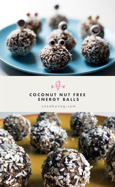 Coconut nut free energy balls - little monsters - Sneaky Veg