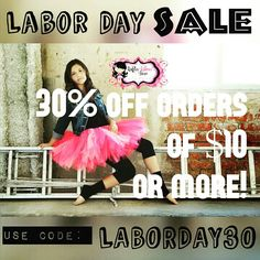 {#LaborDaySale!} All #littlegirls #tutusets starting at $24.50!! All #Adulttutu #skirts starting at $31.50!! All #Flowergirl #dresses starting at $42!!! □■□■□■□■□■□■□■ Starting today, #shop my #etsy #boutique this #LaborDayWeekend and get 30% off your order of $10 or more!! Use #couponcode: LABORDAY30 at checkout to redeem. This #sale goes through the #weekend and ends on #LaborDay, so stop by today to get this deal! Etsy.com/shop/RufflesRibbonsNBows  #RufflesRibbonsNBows