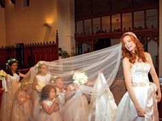 100 Memorable Celebrity Wedding Moments - Marcia Cross from InStyle.com