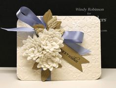 http://tiny.cc/SB-PreOrder ~~ Ooooohhhh! Check out this beautiful card!! Spellbinders Designer Windy uses new die sets to bring us her artistic vision! She used Spiral Blossom Three die and the Splendid M-Bossabilities embossing folder. See her step-by-step. http://tiny.cc/SB8-Windy