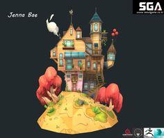 게임학원,3D모델링,3D캐릭터,3D배경,모델링,서울게임아카데미 배이정 학생작품