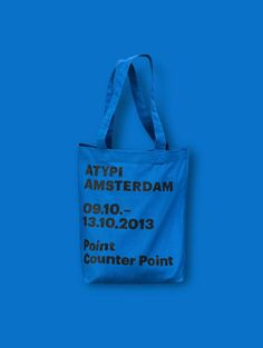 Studio Dumbar (part of Dept) is an international design agency specialised in visual branding and online branding, located in Rotterdam. Design Poster, Graphic Design, Custom Tote Bags, Event Branding, Fabric Bags, Paper Bags, Cotton Bag, Pouch Bag, Bag Making