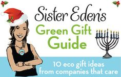 This is not your typical holiday gift guide! 10 fun and unique gift ideas from sustainable companies.