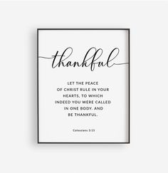 Thankful Grateful Blessed Bible Verse Printable Wall Art | Etsy Printable Bible Verses, Printable Wall Art, Thankful And Blessed, Grateful, Giving Thanks To God, Christian Wall Decor, Christian Posters, World Map Wall Art, Bless The Lord
