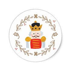 Shop Nutcracker Classic Round Sticker created by origamiprints. Nutcracker Christmas, Christmas Tag, Christmas 2019, All Things Christmas, Christmas Fair Ideas, Christmas Inspiration, Christmas Decorations, Nutcracker Soldier, Xmas Theme