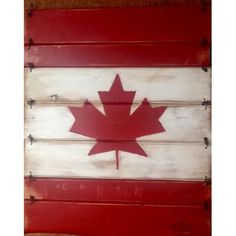 Home :: Décor :: Outdoor :: Large Wooden Canada Flag by RockingHorse Past, $48