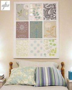 DIY art I love, love, love this!  The colors would match my master bedroom perfectly!