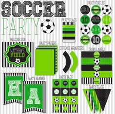 Soccer Party PRINTABLE Full Collection by Love The by lovetheday, $45.00
