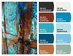 Blue Rust Color Palette