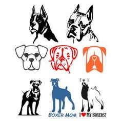 Eigh Boxer Dog including I Love my Boxer and Boxer Mom Pack Cuttable Design Cut File. Vector, Clipart, Digital Scrapbooking Download, Available in JPEG, PDF, EPS, DXF and SVG. Works with Cricut, Design Space, Sure Cuts A Lot, Make the Cut!, Inkscape, CorelDraw, Adobe Illustrator, Silhouette Cameo, Brother ScanNCut and other compatible software.