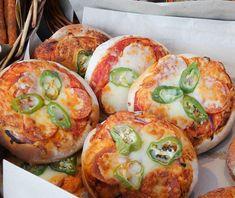 """Pizzerinki"" small pizza from Poland seen in London Kings Cross Market [4337x3648][OC] via FoodPorn on April 13 2018 at 04:13AM"
