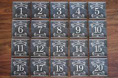Chalkboard Table Numbers Printable
