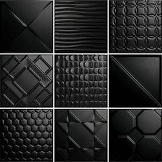 Thomas Avenue Ceramics Glazed x Tile Color: Black 3d Wall Tiles, Wall Tiles Design, Wall Decor Design, Ceramic Wall Tiles, Black Wall Tiles, Feature Wall Design, Wall Panel Design, 3d Wall Decor, Best Floor Tiles
