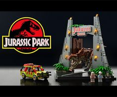 Jurassic Park LEGO CUUSOO T-Rex and Park Gate Set