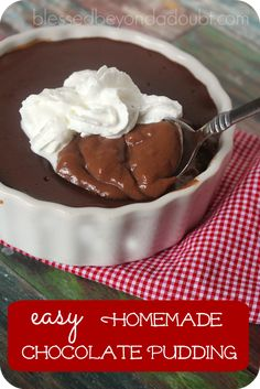 You can make this easy chocolate pudding and be the coolest mom on the planet.