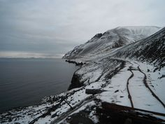 abandoned railroad from Grumant on the Svalbard archipelago.