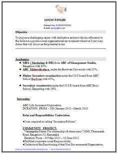 Sample Template Of An Engineer BTech In Information Technology