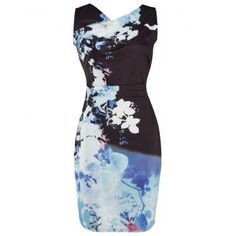 SHARE & Get it FREE | V Neck Knee Length Bodycon Floral Print DressFor Fashion Lovers only:80,000+ Items·FREE SHIPPING Join Dresslily: Get YOUR $50 NOW!