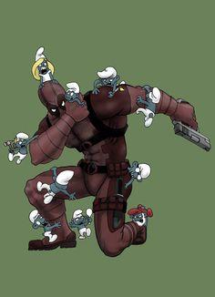 Deadpool vs. Smurfs