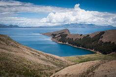 Hiking on Isla del Sol over looking the Bolivian side of Lake Titicaca. Stunning views all around.