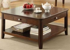 ACME 18468 ADAM COFFEE TABLE, WALNUT FINISH  - Click image twice for more info - See a larger selection of square coffee tables at http://zcoffeetables.com/product-category/square-coffee-tables/ - home, home decor, home ideas, home furniture, office furniture, table, gift ideas, living room, patio,garden, outdoor living