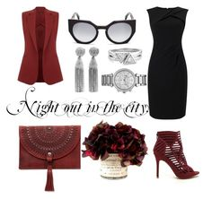 """""""Night out in the city."""" by amrinjo ❤ liked on Polyvore featuring Adrianna Papell, Patricia Nash, Oscar de la Renta, Fendi, Michael Kors, Theory, chic, NightOut and girlsnightout"""