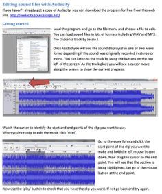 Need short music clips for cause and effect activities. Learn how to edit music with the brilliant and free Audacity. ianbean.co.uk/...