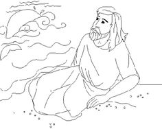 Jonah Bible Coloring Pages For Kids