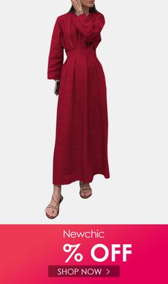 I found this amazing Casual Solid Color V-neck Pleated Long Sleeve Midi Dress with US$23.99,and 14 days return or refund guarantee protect to us. --Newchic #Womensdresses #womendresses #womenapparel #womensclothing #womensclothes #fashion #onlineshop #onlineshopping #bigdiscount #shopnow #DiscountSale #discountprices #discountstore #discountclothing #fashionista #fashionable #fashionstyle #fashionpost #fashionlover #fashiondesign #fashionkids #fashiondaily #fashionstylist #fashiongirl