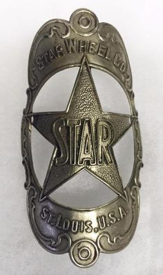 nos early STAR Wheel Co. bicycle Head badge tag antique plate in Collectibles, Transportation, Bicycles | eBay