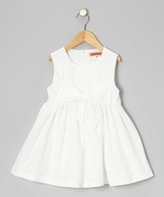 Take a look at this White Bow A-Line Dress - Toddler & Girls by Funkyberry on #zulily today!