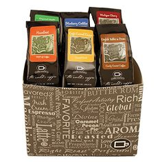 Specialty Coffee Coffee Lover Gourmet Sampler of Flavors Tea Gifts, Coffee Gifts, Coffee Coffee, Carmel Cream, Coffee Gift Baskets, Michigan Cherries, Caramel Pecan, Toffee, Cream Cat