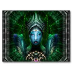 Riddian Queen Emerald Portrait Postcards - Click Here http://www.zazzle.com/xzendor7*