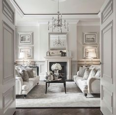 Classy white and grey room