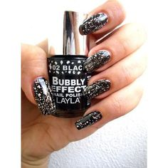 Layla Layla Nail Polish Bubbly Effect, 02 Black Forest #beauty #trend #nailpolish #makeup #hair #style #brows #outfits #inspiration