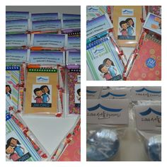 I made notebook packs for the kiddos and magnets for the adults...Gifts for the delegates at the South Korea International Convention. So happy to be able to send gifts to our brothers and sisters in Seoul.