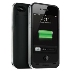 mophie Juice Pack Rechargeable External Battery for iPhone® 4/4s - Black (38226TGR)
