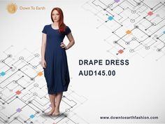 Feel amazing with #dresses that are trans-seasonal and versatile. Shop at #Down To Earth Fashion. #fashion #bamboo draped dress #daily outfit #linen summer #australian fashion. Checkout our website at : downtoearthfashion.com