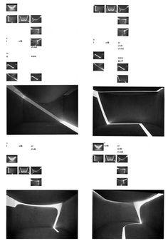 STEVEN HOLL  LIGHT SCORE (LIGHT STUDIES FOR THE MUSEUM OF THE CITY IN CASSINO, ITALY), 1990s  > here's the key