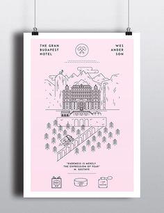 The Grand Budapest Hotel - Poster by Teté García, via Behance