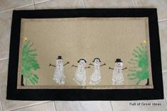 Full of Great Ideas: Super Cute Grandparent Gift  - Kids feet and hands Christmas Rug