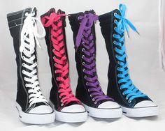 Kids Boy Girl Mid Calf High Top Canvas Boot Tennis Shoe Sneaker Black NEW