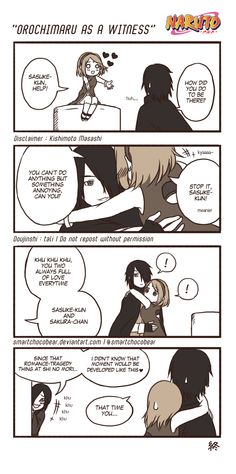 Sasusaku  I see orochimaru is a nasty fellow as always.